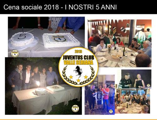 Cena sociale 2018 – I NOSTRI 5 ANNI