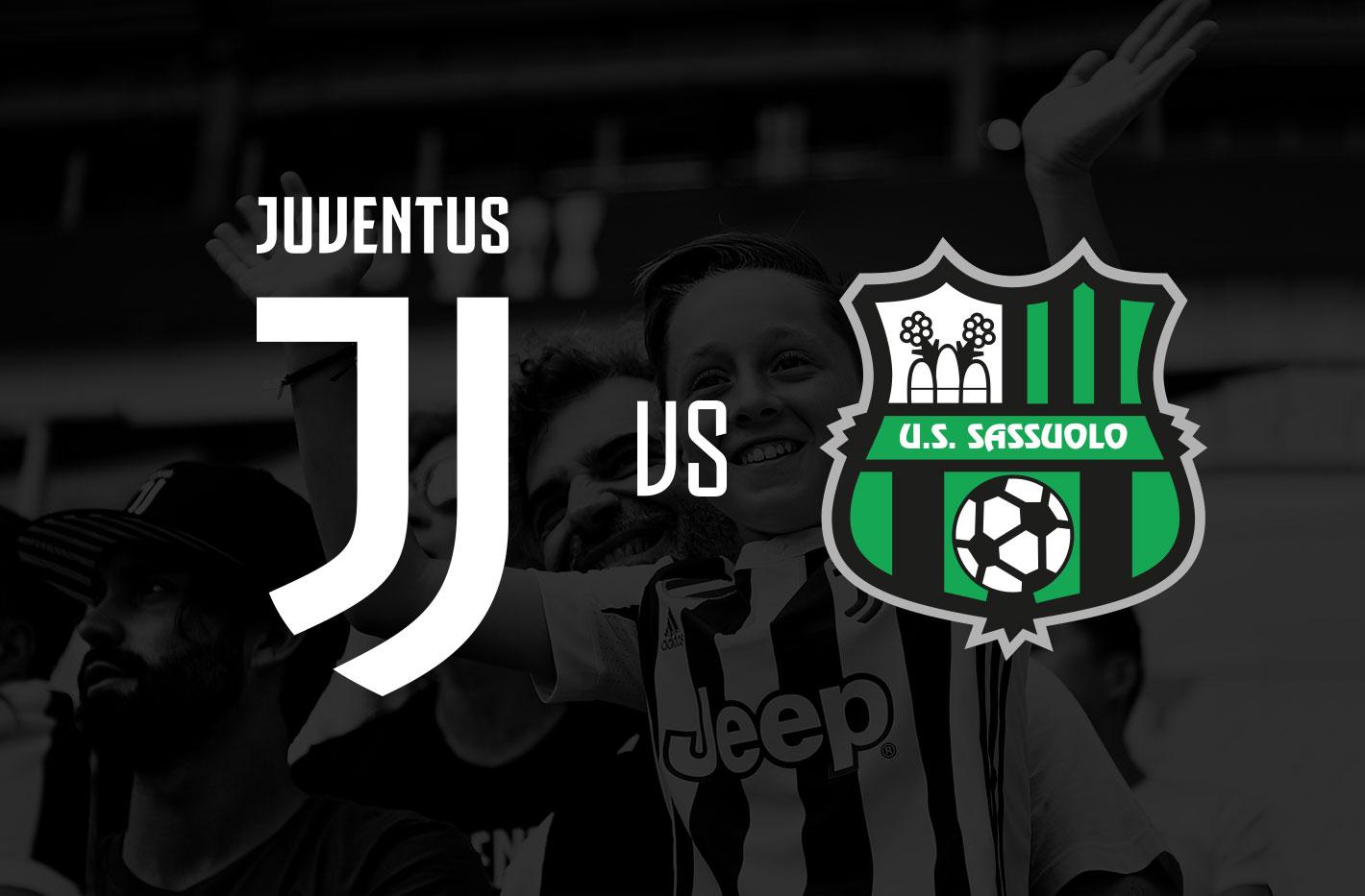 Juventus - Sassuolo Allianz Stadium, domenica 01 Dicembre ore 12,30